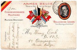 Correspondance Entre Deux Militaires Belges - CP Avec Oblitération P.M.B. - WW I