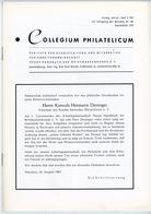 COLLEGIUM PHILATELICUM 3/1967  U. A. Luxemburg 1880 / 1882 - Filatelie En Postgeschiedenis