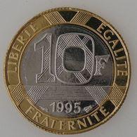 France, Génie De La Bastille, 10 Francs 1995 , SPL, KM# 964.1 - France