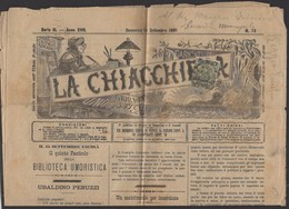 ITALIE : Journal IMPRIME De 1891 Affranchi à 2 Cmi/10 Vert Bronze Oblt CàD De FIRENZE Pour REGGIO - Marcophilie