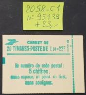 Carnet N° 2058-C1 Avec N° 95139  Neuf **  TTB - Booklets