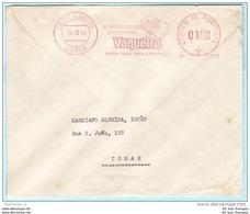 PORTUGAL AFS Freistempel Meter Cover Brief Lettre - 14.12.55  Vaqueiro - Margarina  (26266) FFF - Machine Stamps (ATM)