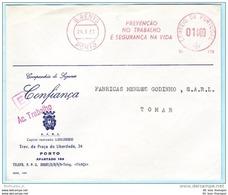 PORTUGAL AFS Freistempel Meter Cover Brief Lettre - 24.01.62  Confianca   (26267) FFF - Machine Stamps (ATM)
