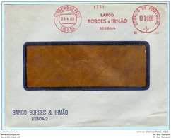 PORTUGAL AFS Freistempel Meter Cover Brief Lettre - 29.04.66  Banco Borges & Irmao   (26269) FFF - Machine Stamps (ATM)