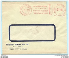 PORTUGAL AFS Freistempel Meter Cover Brief Lettre - 28.01.66  Sociedades Reunida Reis   (26272) FFF - Machine Stamps (ATM)