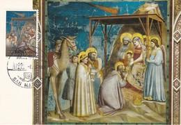 Carte Maximum  Peinture San Marin 1986 Padoue Padova Giotto Cappella Degli Scrovegni - Lettres & Documents