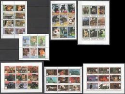 U294 MIX MALDIVES GRENADA ST.VINCENT & THE GRENADINES TANZANIA DOMINICA FAUNA ANIMALS CELEBRATE THE WILD 7SH MNH - Stamps