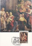 Carte Maximum  Peinture San Marin 1981 Benvenuto Tisi Da Garofalo - Lettres & Documents