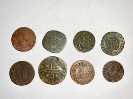 LOT DE 8 PIECES ROYALES FRANCAISES - Vrac - Monnaies