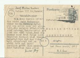 DP GS 1948  BAHN POST - Zone AAS