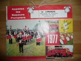 Calendrier Pompier Limoges 1977 - Calendars