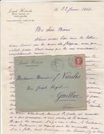 Lettre Entête Hostache Toulouse Cachet Castelmaurou 14/6/1944 Haute Garonne  Maison Occupée Allemands à Rauffiac Tolosan - Marcophilie (Lettres)