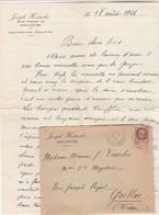 Lettre Entête Hostache Toulouse Cachet Castelmaurou 18/8/1944 Haute Garonne  Maison Occupée Allemands à Rauffiac Tolosan - Marcophilie (Lettres)