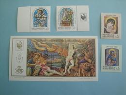 1988 Argentine  Yv 1368/9 + 1655/6 + BF38 ** MNH  - Michel 1932/3 + 1951/2 + B38  Noël Painting - Neufs