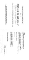 DOODSPRENTJE FRANCOIS DE DOBBELEER ° SCHEPDAAL 1950 + SINT LAUREINS BERCHEM 2018 ECHTG PARIDAENS - Devotion Images