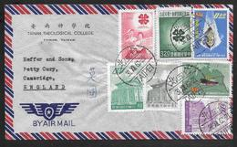 China Taiwan - 1962 Airmail Cover To UK - Multiple Franking Taipei Postmark - 1945-... Republic Of China