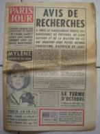 PARIS JOUR : N° 1566 (1964) Ravisseurs De Poitiers, Mylène Demongeot, Assassinat De Kennedy, Ris-Orangis, Enghien... - Journaux - Quotidiens