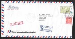 Hong Kong - 1984 Registered Airmail Cover - Sheungwan To Ulan Bator Mongolia - Hong Kong (...-1997)