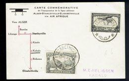 Vol Intérieur SABENA: 169 + PA 7 / CP Elisabethville 17 6 37 => Kabalo ( Voir Scans ) - Congo Belge