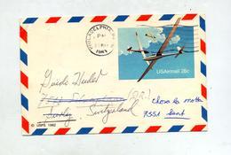 Carte Postale 28 C Planeur Flamme Muette Philadelphie - Interi Postali