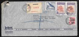 Uruguay - 1952 Registered Airmail Cover To UK - Leyland Omnibus Co. - Uruguay