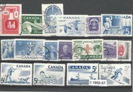 33719r ) Canada Collection Commemoratives 1955 1956 1957 Sport - 1952-.... Regno Di Elizabeth II