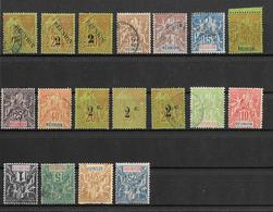 Lot Reunion Zwischen Nummer 30 Und 47 (lt. Yvert) - Réunion (1852-1975)