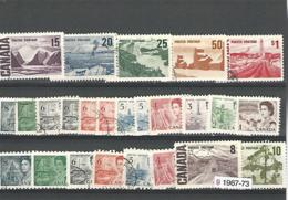 33814r ) Canada Collection Commemoratives 1967 - 1973 Centennial Set Complete With Coils - 1952-.... Regno Di Elizabeth II