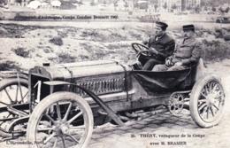 Course Automobile - Circuit D' Auvergne-  Coupe Gordon Bennett 1905 - Théry Vainqueur De La Coupe Avec M. Brasier - Sport Automobile