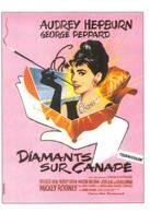 Audrey Hepburn Illustrateur C Venin Diamants Sur Canapé - Afiches En Tarjetas