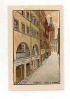 Y7284/ Reklamemarke Glatz Alte Lauben  Steinzeichnung Litho Ca.1910 Schlesien - Schlesien
