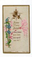 Jésus, Marie, Joseph ! Trois Sacrés Coeurs, éd. Bonamy N° 48, De Soeur Stanislas à Marie Sarrassay - Images Religieuses