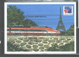 """TANZANIA 1999 """"TRAINS"""" MS   #1910 MNH - Tanzania (1964-...)"""