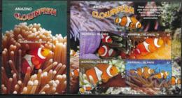 MARSHALL ISLANDS, 2019, MNH, FISH, CLOWNFISH, SHEETLET+S/SHEET - Fishes