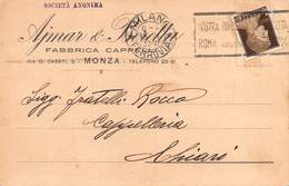 """010483 """"MONZA - AYMAR E BERETTA - FABBRICA COPPE""""   CART  SPED - Shops"""