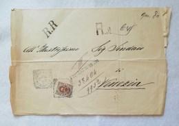 Busta Di Lettera Raccomandata Per Municipio Di Venezia 11/10/1892 - 1878-00 Umberto I