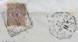 GABBIONETA 27 NOV 11  Annullo Collettoria + BINANUOVA CREMONA Su LETTERA RISPEDITA - 1900-44 Vittorio Emanuele III