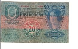 Fiume 1913 20 Kronen Korona Q.bb/bb LOTTO 3195 - [ 1] …-1946 : Royaume