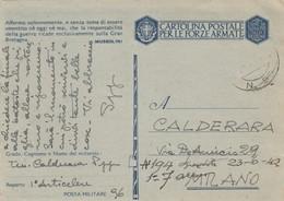 "9822- FRANCHIGIA P.M. 2° GUERRA SPEDITA DA ""POSTA MILITARE N.96""-1942 - Marcophilia"