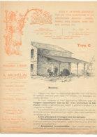 FA  1921 -  FACTURE  -  PUB   - DEPLIANT  -  SERRURERIE D'ART A. MICHELIN   PARIS 1898 - 1800 – 1899