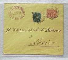 Busta Di Lettera Da Brescia Per Levico 11/07/1891 - Annulli Ottagonali A Sbarre - Storia Postale