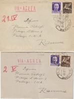 """9826- UNA LETTERA E UN BIGLIETTO POSTALE  SPEDITI DA """"POSTA MILITARE N.14""""-1943 - Marcophilia"""