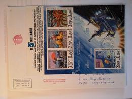 """TAAF - Enveloppe BF """"Sur Les Terres Australes... (Iles Crozet, Kerguelen...) Dumont D'Urville T Adélie 1-1-2000 - Terres Australes Et Antarctiques Françaises (TAAF)"""