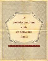 Electricité De France - Le Premier Emprunt Émis En Nouveaux Francs (Recto-Verso) - Electricité & Gaz