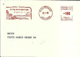 Lettre  EMA  Havas P 1986 Centre Phyto Somatique Santé Medecine Fleur 12 Capdenac  C23/19 - Marcophilie (Lettres)