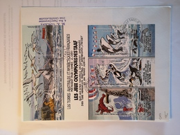 """TAAF - Enveloppe BF """"Sur Les Terres Australes... (jeux Olympiques...) Dumont D'Urville T Adélie 1-1-2002 - Terres Australes Et Antarctiques Françaises (TAAF)"""
