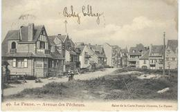 49. LA PANNE : Avenue Des Pêcheurs - RARE VARIANTE - Cachet De La Poste 1908 - De Panne