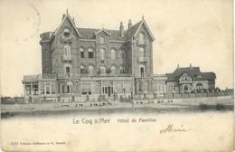 LE COQ S/MER : Hötel Des Familles - RARE VARIANTE - Cachet De La Poste 1900 - De Haan