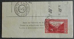"""Austria-Hungary 1912 Postal Form Cut, 1 Stamp, Cancelled """"Kladanj"""" - Non Classés"""