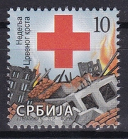Serbia 2018 Red Cross Week Croix Rouge Rotes Kreuz Cruz Roja Croce Rossa Tax Charity Surcharge Stamp MNH - Serbia